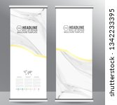roll up business brochure flyer ... | Shutterstock .eps vector #1342233395