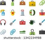 color flat icon set apron flat...   Shutterstock .eps vector #1342234988