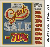 vintage great sale collection... | Shutterstock .eps vector #134224058