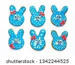 Bunny Cookies Isolated On Whit...