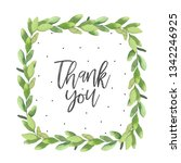 card template with beautiful... | Shutterstock . vector #1342246925