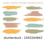 artistic label brush stroke...   Shutterstock .eps vector #1342264862