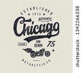 motorcycle typography.... | Shutterstock .eps vector #1342266338