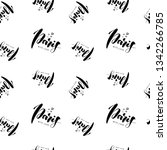 seamless pattern with name of... | Shutterstock .eps vector #1342266785