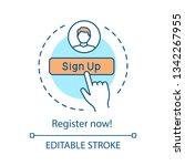 registration form concept icon. ... | Shutterstock .eps vector #1342267955
