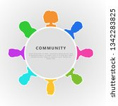 social community infographic... | Shutterstock .eps vector #1342283825