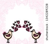birds and hearts. vector... | Shutterstock .eps vector #1342289228