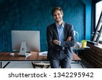 businessman wearing modern suit ... | Shutterstock . vector #1342295942