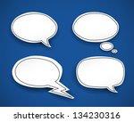 paper speech bubbles. vector... | Shutterstock .eps vector #134230316