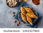 baklava. ramadan dessert.... | Shutterstock . vector #1342327865