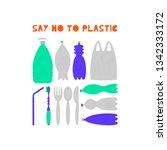 Say No To Plastic Vector...