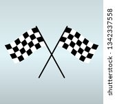 crossed checkered flags  race... | Shutterstock .eps vector #1342337558