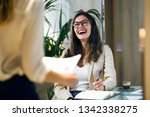 shot of laughing elegant young... | Shutterstock . vector #1342338275