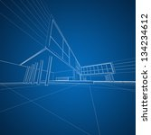 concept architecture drafting.... | Shutterstock . vector #134234612