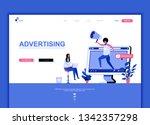 modern flat web page design...