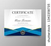 certificate premium template...   Shutterstock .eps vector #1342358735