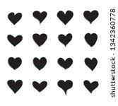 heart icons set isolated on... | Shutterstock .eps vector #1342360778
