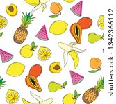 background with juicy fruits.... | Shutterstock .eps vector #1342366112