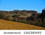 hilly landscape at a sunny...   Shutterstock . vector #1342385495
