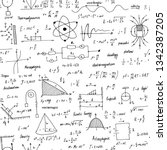 physics formulas. seamless... | Shutterstock .eps vector #1342387205