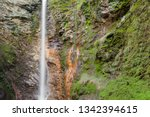 small waterfall among the...   Shutterstock . vector #1342394615