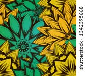 seamless floral background. the ... | Shutterstock .eps vector #1342395668