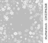 winter snowflakes border trendy ... | Shutterstock .eps vector #1342396268