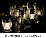 Lit Hurricane Lamps  Backgroun...