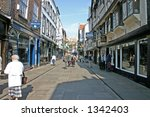 tourists near york cathedral uk | Shutterstock . vector #1342403