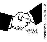 men handshake. vector | Shutterstock .eps vector #1342403255