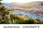 beautiful nice port  boats and...   Shutterstock . vector #1342406975