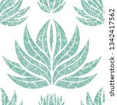 vector seamless floral grunge... | Shutterstock .eps vector #1342417562