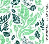 vector seamless floral grunge... | Shutterstock .eps vector #1342417568