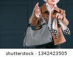 trendy senior wardrobe. female... | Shutterstock . vector #1342423505