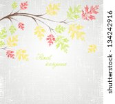 autumn background with green ... | Shutterstock .eps vector #134242916