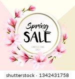 spring sale background with... | Shutterstock .eps vector #1342431758