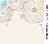 vintage floral background with...   Shutterstock .eps vector #134243186
