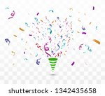 lots of colorful tiny confetti... | Shutterstock .eps vector #1342435658