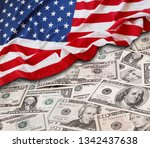american flag and assorted... | Shutterstock . vector #1342437638