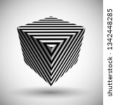 optical illusion lines... | Shutterstock .eps vector #1342448285