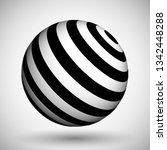 optical illusion lines... | Shutterstock .eps vector #1342448288