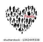 family vector. heart of people... | Shutterstock .eps vector #1342449338