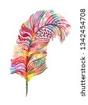 multicolored abstract feather | Shutterstock .eps vector #1342454708