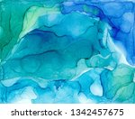 alcohol ink air texture. fluid... | Shutterstock . vector #1342457675