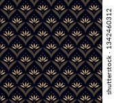 japan wave pattern ditzy floral ... | Shutterstock .eps vector #1342460312