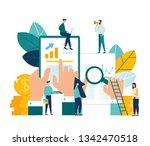 vector illustration  online... | Shutterstock .eps vector #1342470518