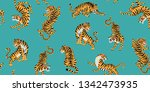 vector seamless pattern with... | Shutterstock .eps vector #1342473935