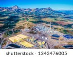 Aerial Image Of Tar Sands Oil...