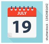july 19   calendar icon  ... | Shutterstock .eps vector #1342481642