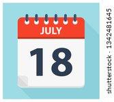 july 18   calendar icon  ... | Shutterstock .eps vector #1342481645